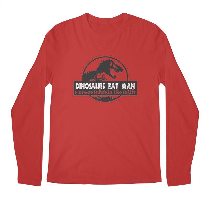 Dinosaurs eat man Men's Regular Longsleeve T-Shirt by ninthstreetdesign's Artist Shop