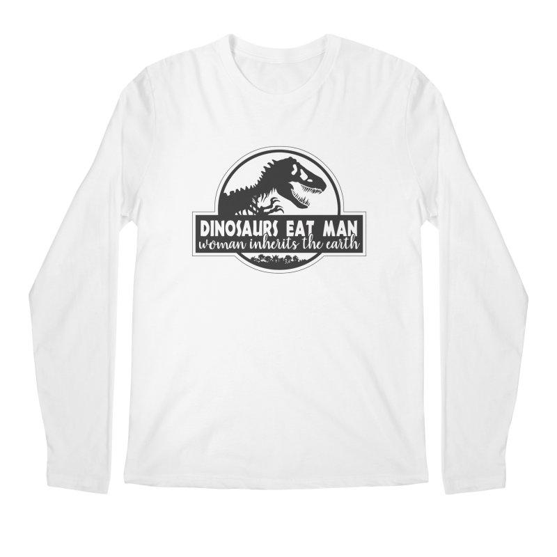 Dinosaurs eat man Men's Longsleeve T-Shirt by ninthstreetdesign's Artist Shop