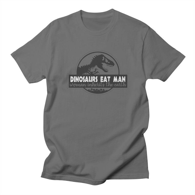 Dinosaurs eat man Men's T-Shirt by Ninth Street Design's Artist Shop