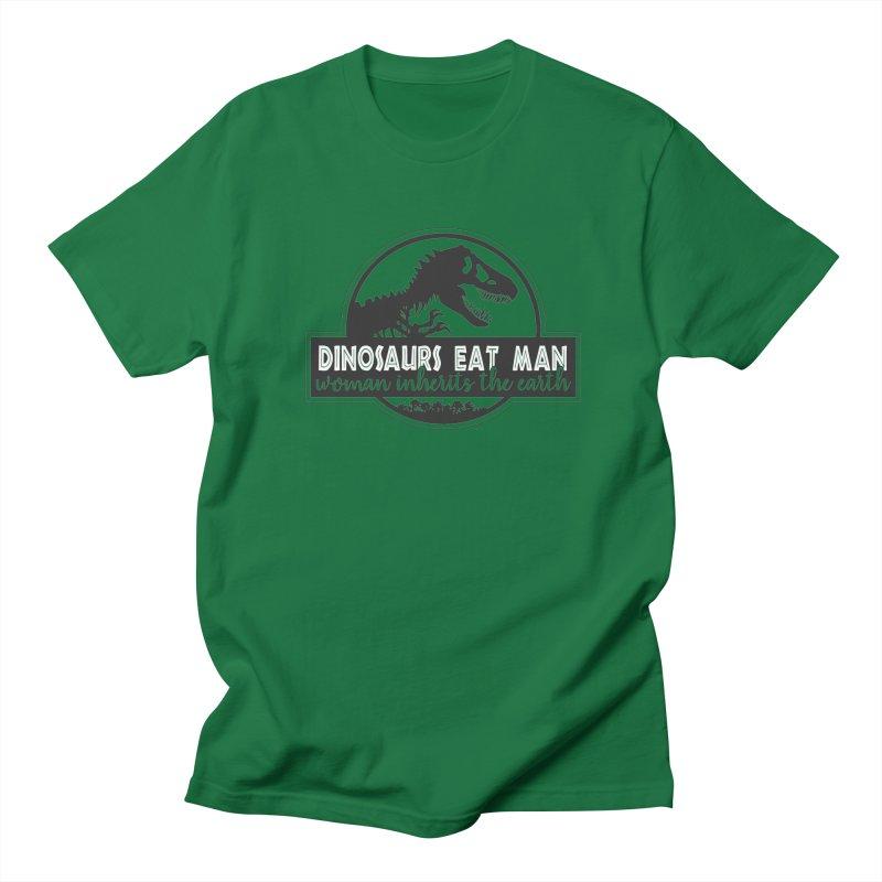 Dinosaurs eat man Men's Regular T-Shirt by Ninth Street Design's Artist Shop