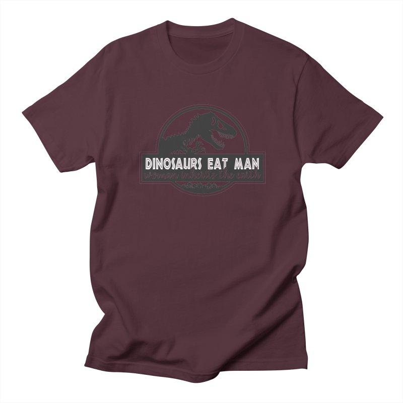 Dinosaurs eat man Men's Regular T-Shirt by ninthstreetdesign's Artist Shop