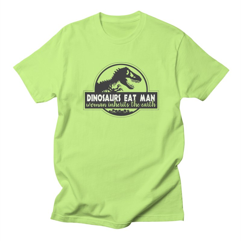 Dinosaurs eat man Men's Regular T-Shirt by ninthstreetdesign's Artist Shop