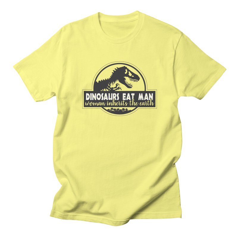 Dinosaurs eat man Men's T-Shirt by ninthstreetdesign's Artist Shop