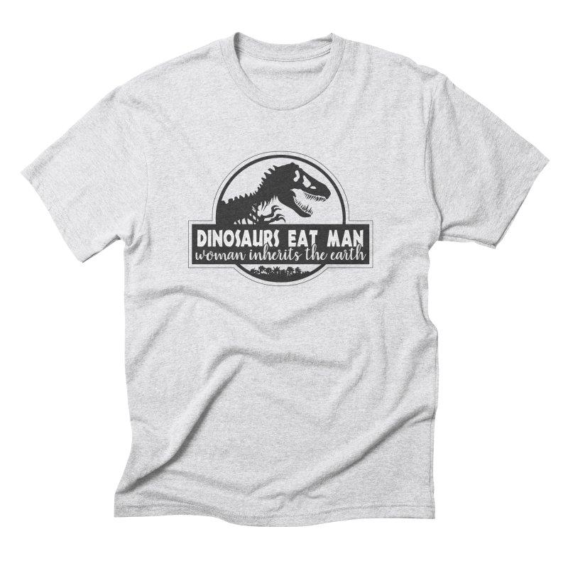 Dinosaurs eat man Men's Triblend T-Shirt by ninthstreetdesign's Artist Shop