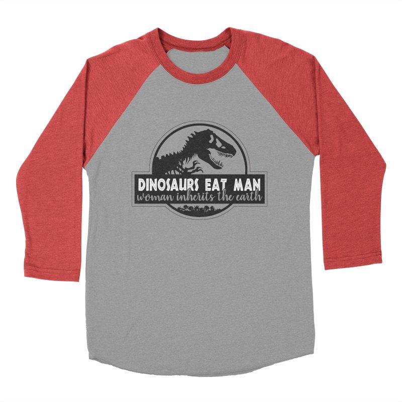 Dinosaurs eat man Men's Baseball Triblend T-Shirt by ninthstreetdesign's Artist Shop