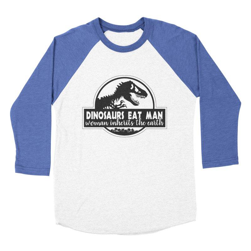 Dinosaurs eat man Men's Baseball Triblend Longsleeve T-Shirt by ninthstreetdesign's Artist Shop
