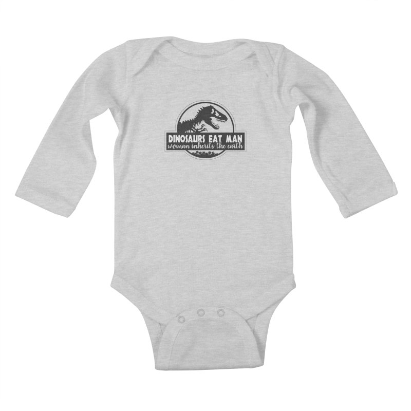 Dinosaurs eat man Kids Baby Longsleeve Bodysuit by ninthstreetdesign's Artist Shop