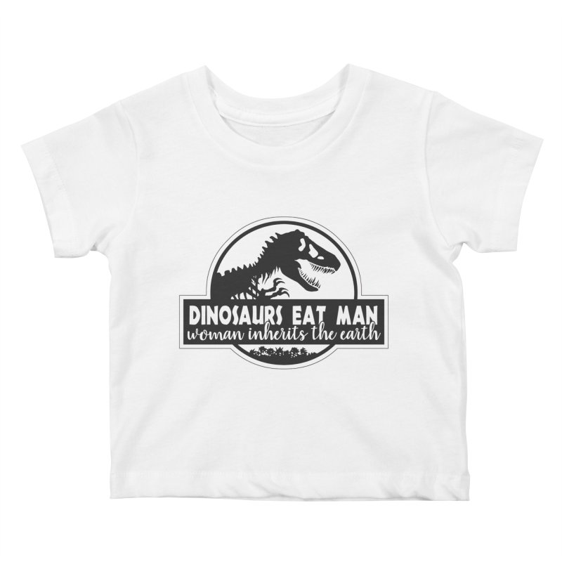 Dinosaurs eat man Kids Baby T-Shirt by ninthstreetdesign's Artist Shop