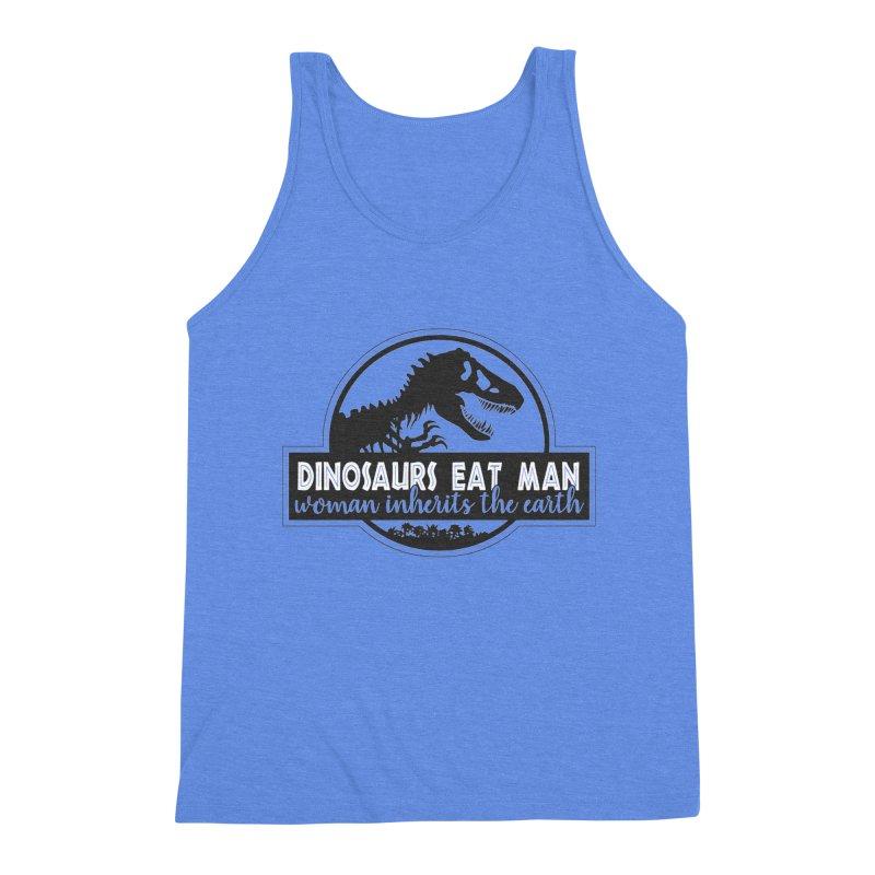 Dinosaurs eat man Men's Triblend Tank by Ninth Street Design's Artist Shop