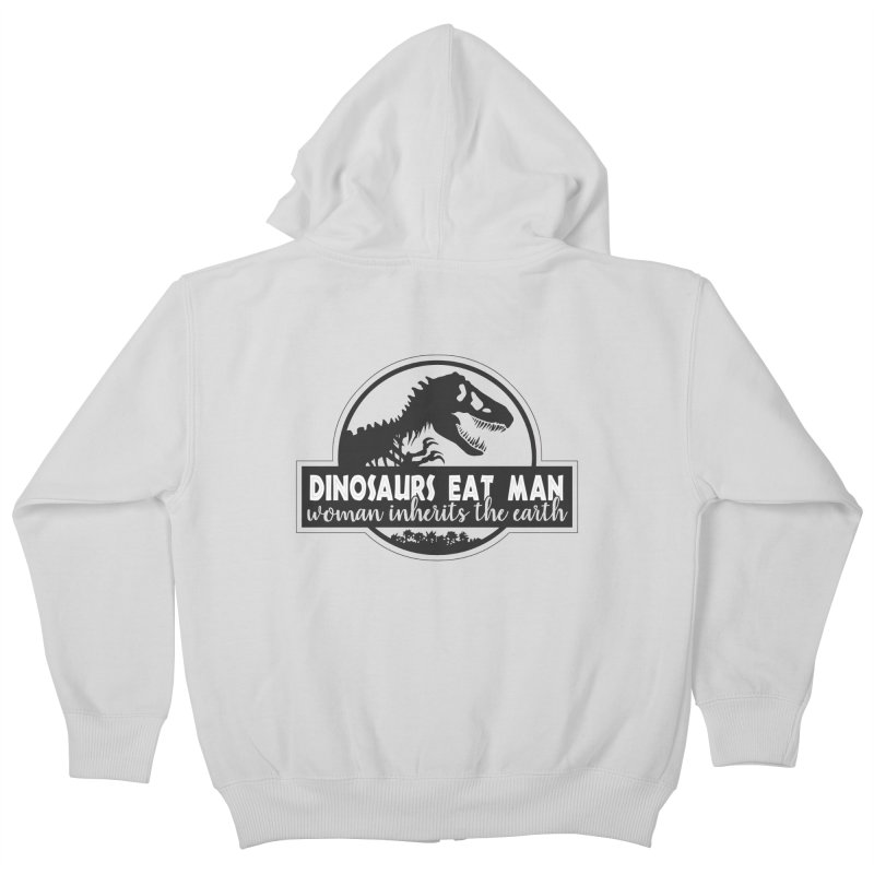 Dinosaurs eat man Kids Zip-Up Hoody by ninthstreetdesign's Artist Shop
