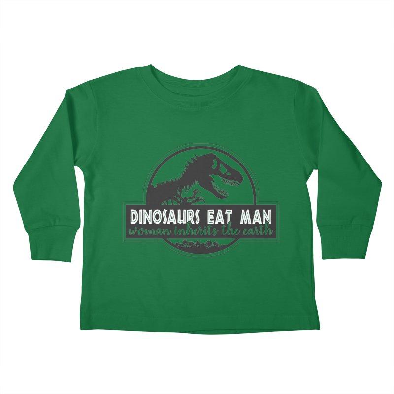 Dinosaurs eat man Kids Toddler Longsleeve T-Shirt by ninthstreetdesign's Artist Shop