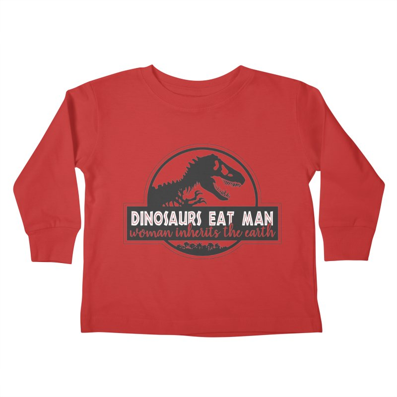 Dinosaurs eat man Kids Toddler Longsleeve T-Shirt by ninthstreetdesign's Artist Shop