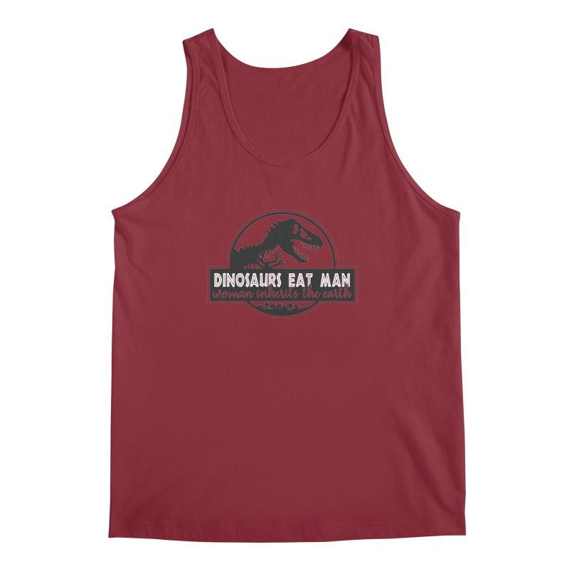 Dinosaurs eat man Men's Tank by ninthstreetdesign's Artist Shop