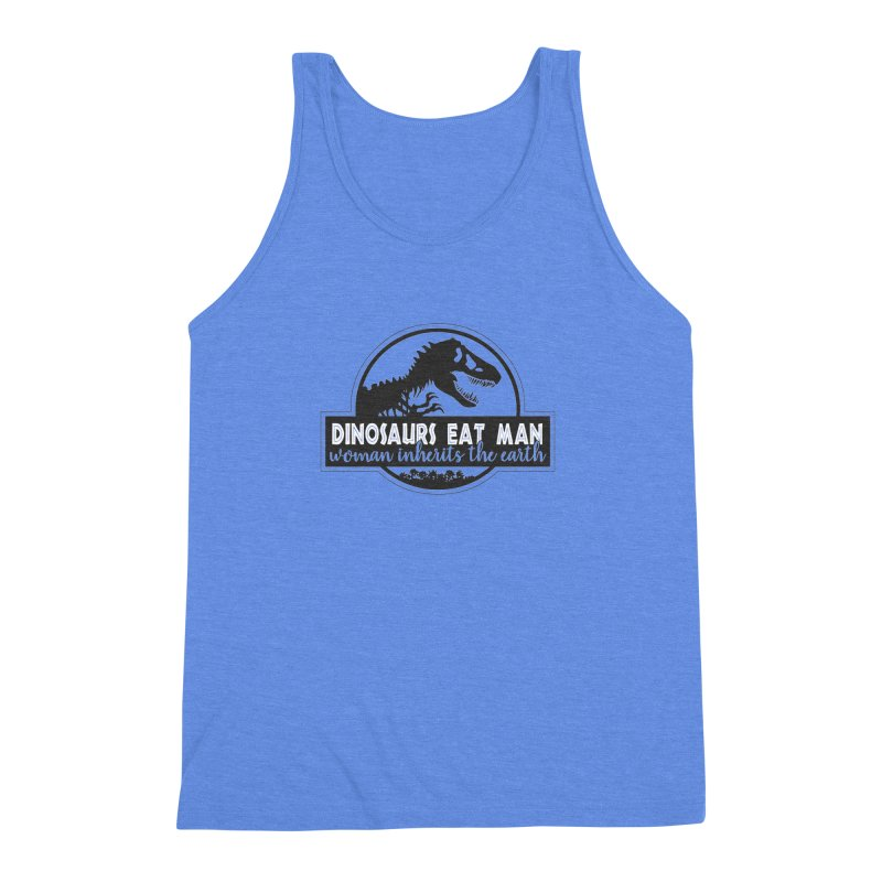 Dinosaurs eat man Men's Triblend Tank by ninthstreetdesign's Artist Shop