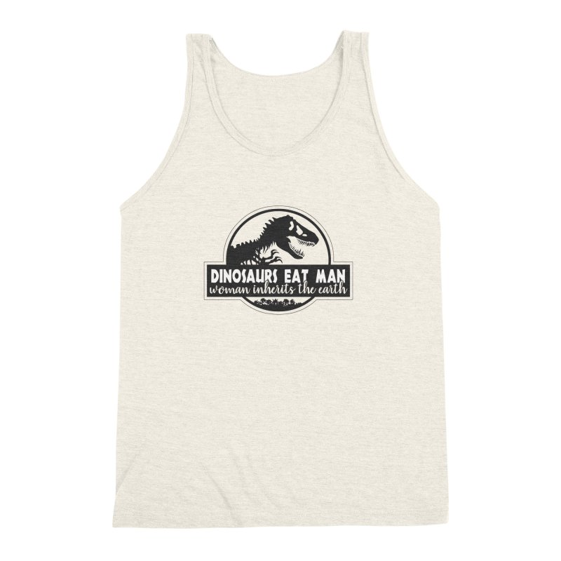 Dinosaurs eat man Men's Triblend Tank by ninthstreetdesign's Artist Shop