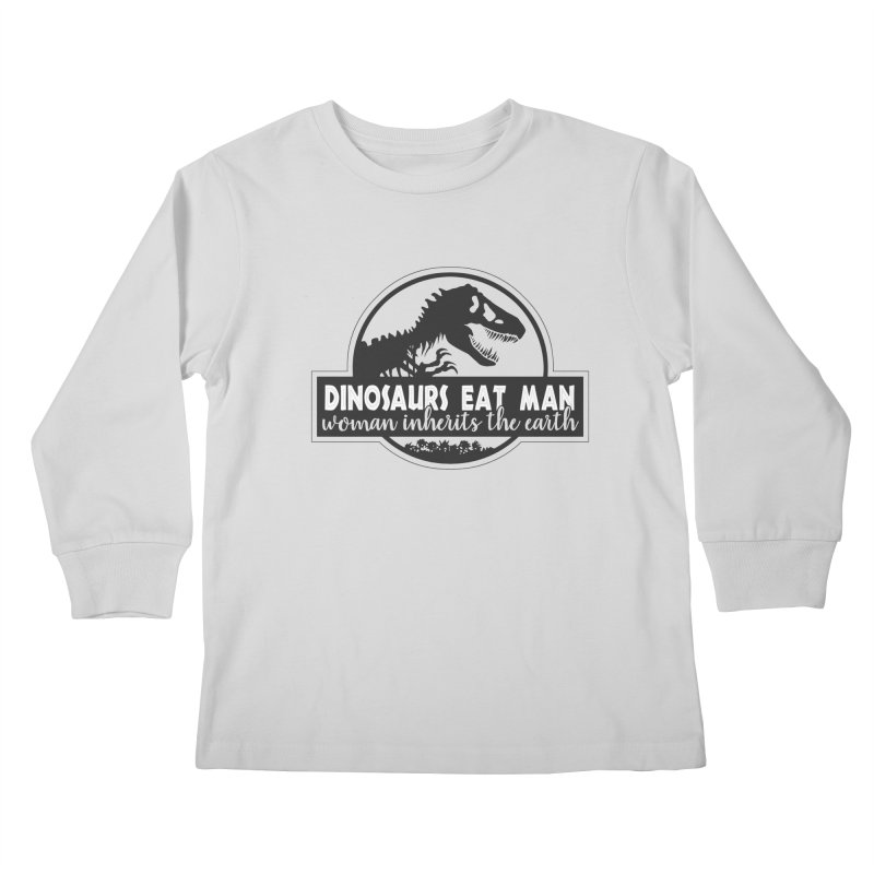 Dinosaurs eat man Kids Longsleeve T-Shirt by ninthstreetdesign's Artist Shop