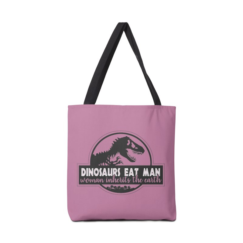 Dinosaurs eat man Accessories Tote Bag Bag by Ninth Street Design's Artist Shop