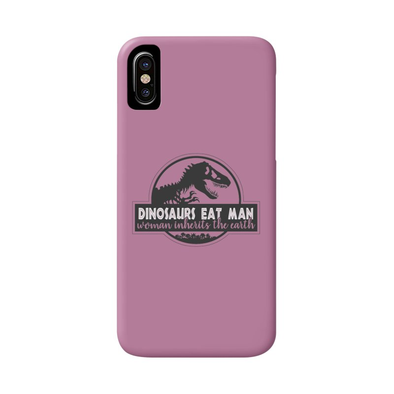 Dinosaurs eat man Accessories Phone Case by ninthstreetdesign's Artist Shop