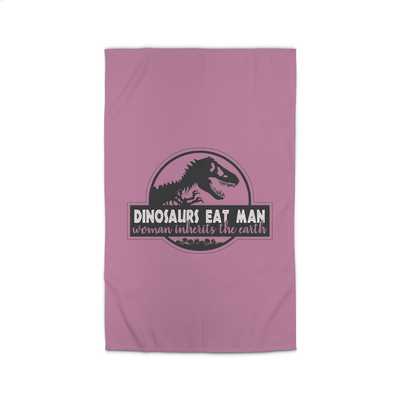 Dinosaurs eat man Home Rug by Ninth Street Design's Artist Shop