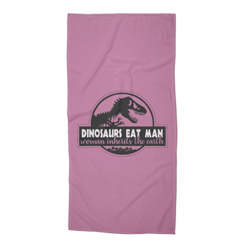 Dinosaurs eat man Accessories Beach Towel by ninthstreetdesign's Artist Shop