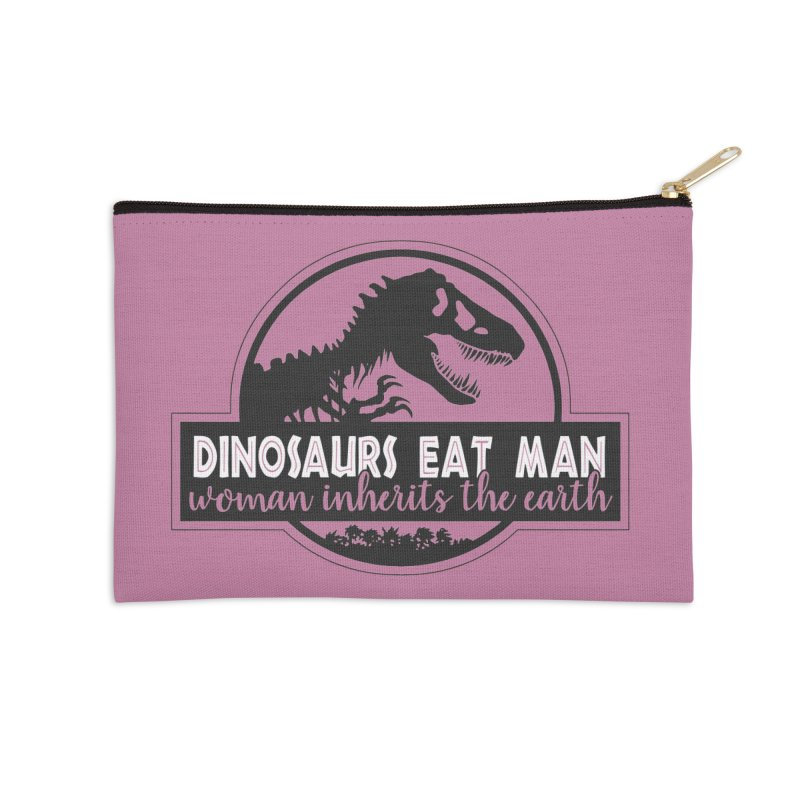 Dinosaurs eat man Accessories Zip Pouch by ninthstreetdesign's Artist Shop