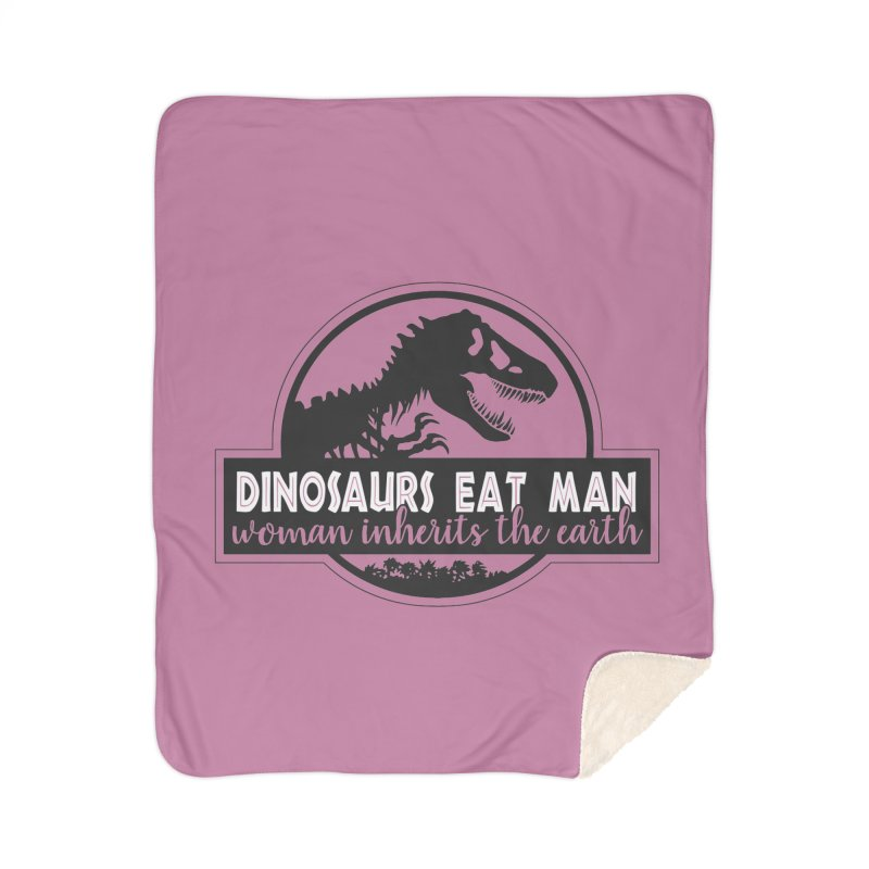 Dinosaurs eat man Home Sherpa Blanket Blanket by Ninth Street Design's Artist Shop