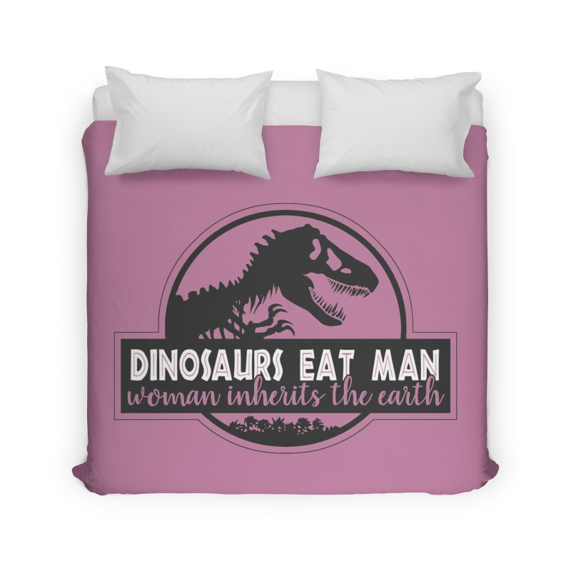 Dinosaurs eat man Home Duvet by ninthstreetdesign's Artist Shop