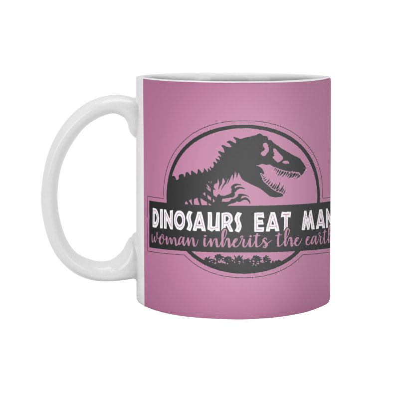 Dinosaurs eat man Accessories Standard Mug by Ninth Street Design's Artist Shop