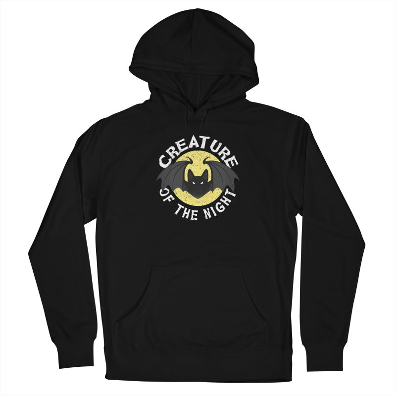 Creature of the night Women's French Terry Pullover Hoody by Ninth Street Design's Artist Shop