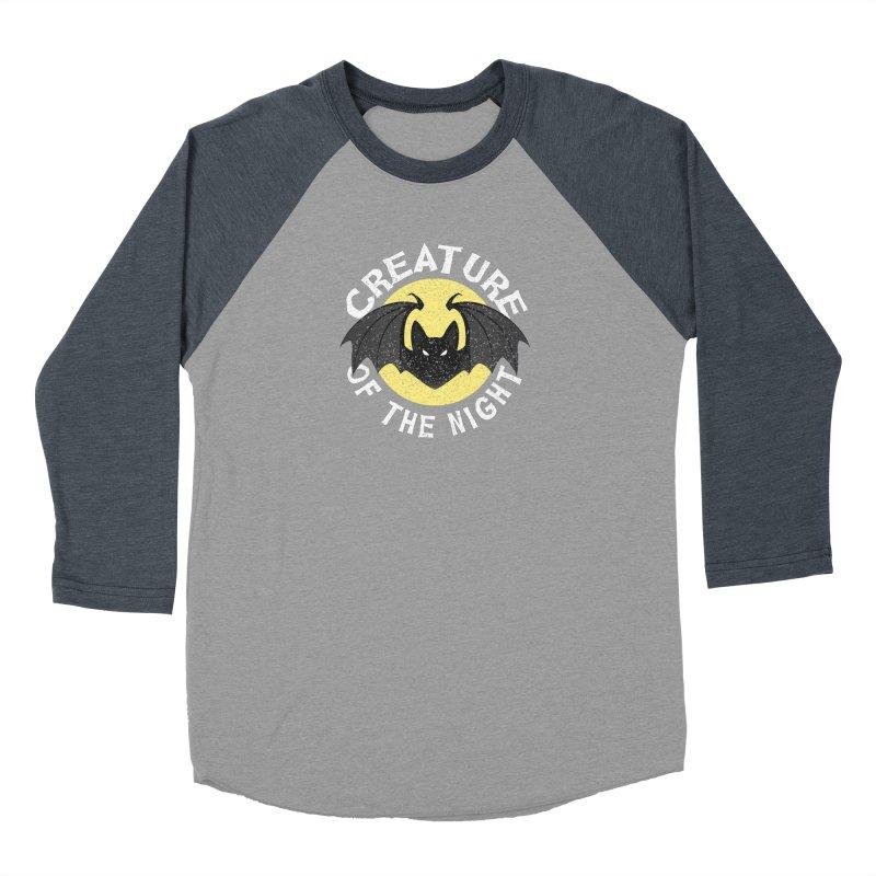 Creature of the night Women's Baseball Triblend Longsleeve T-Shirt by Ninth Street Design's Artist Shop