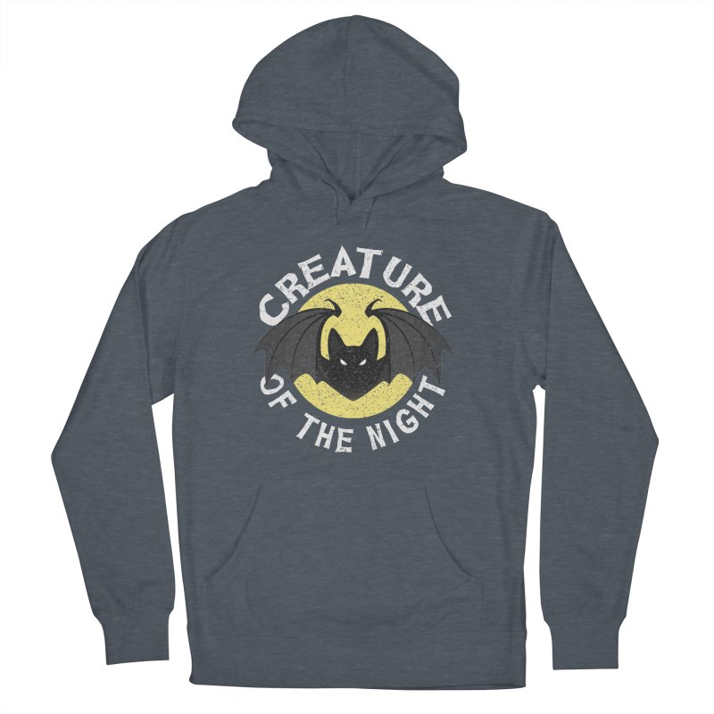 Creature of the night Men's French Terry Pullover Hoody by Ninth Street Design's Artist Shop