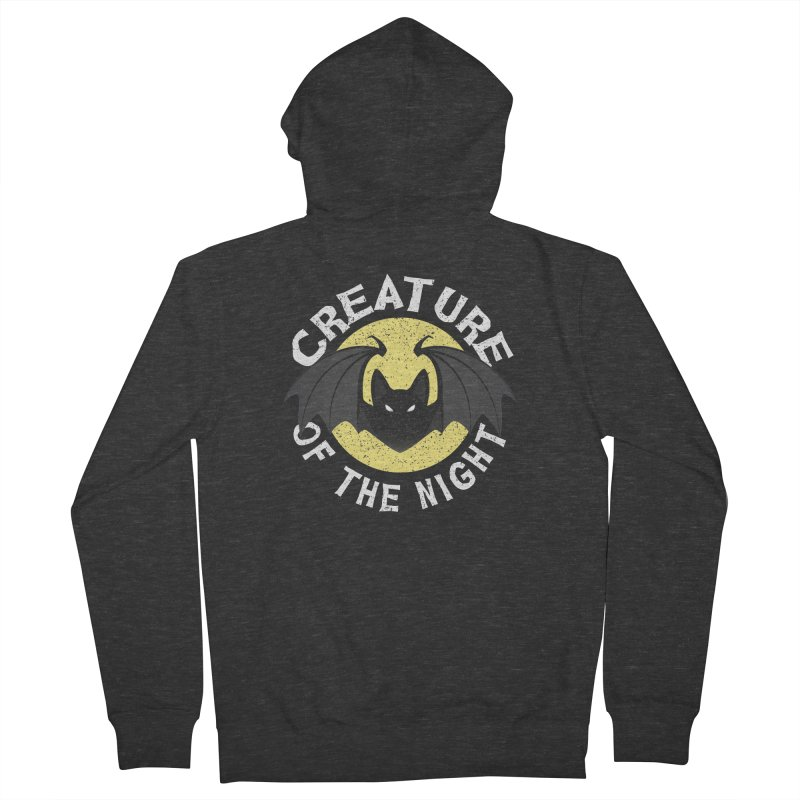 Creature of the night Women's French Terry Zip-Up Hoody by Ninth Street Design's Artist Shop