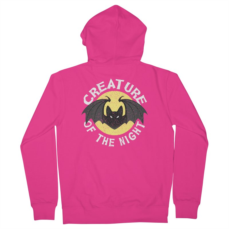Creature of the night Men's French Terry Zip-Up Hoody by Ninth Street Design's Artist Shop