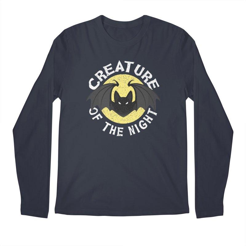 Creature of the night Men's Regular Longsleeve T-Shirt by Ninth Street Design's Artist Shop