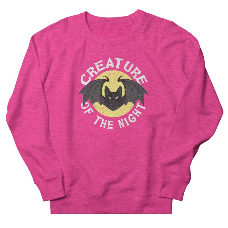 Creature of the night Women's French Terry Sweatshirt by Ninth Street Design's Artist Shop