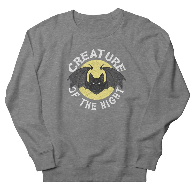 Creature of the night Men's French Terry Sweatshirt by Ninth Street Design's Artist Shop