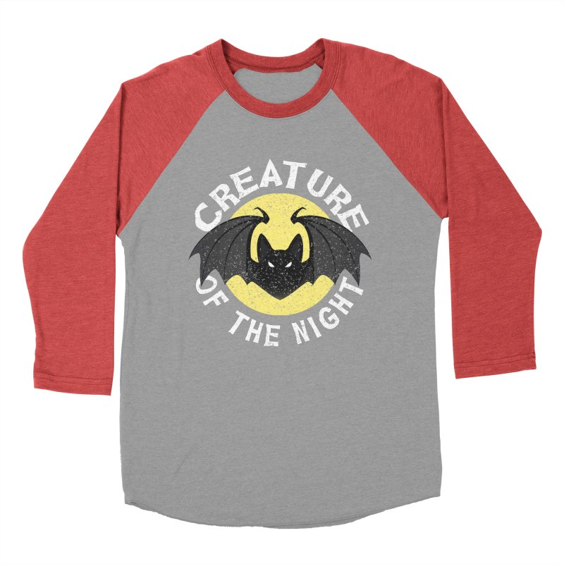 Creature of the night Men's Baseball Triblend Longsleeve T-Shirt by Ninth Street Design's Artist Shop