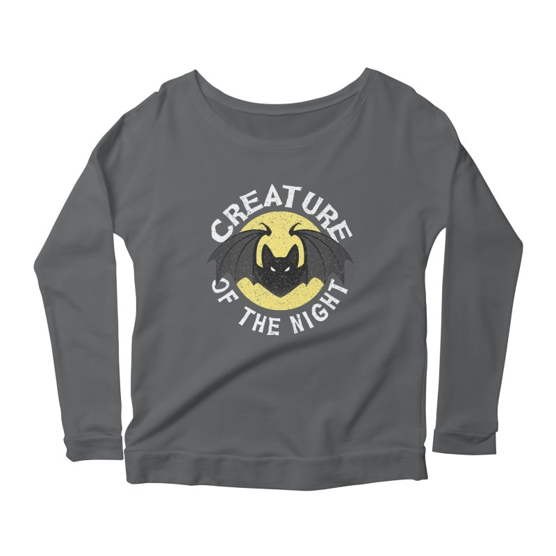 Creature of the night Women's Scoop Neck Longsleeve T-Shirt by Ninth Street Design's Artist Shop
