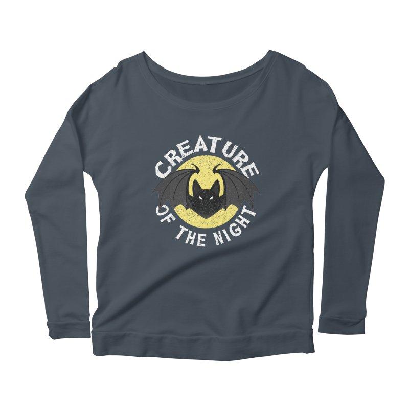 Creature of the night Women's Scoop Neck Longsleeve T-Shirt by Ninth Street Design's Artist Shop