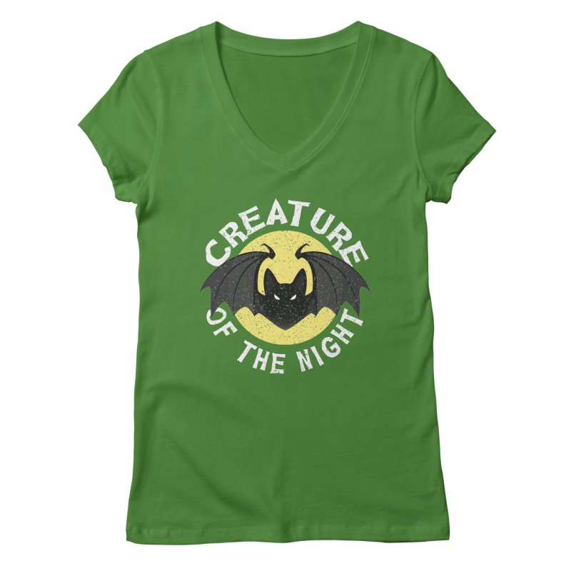 Creature of the night Women's Regular V-Neck by Ninth Street Design's Artist Shop