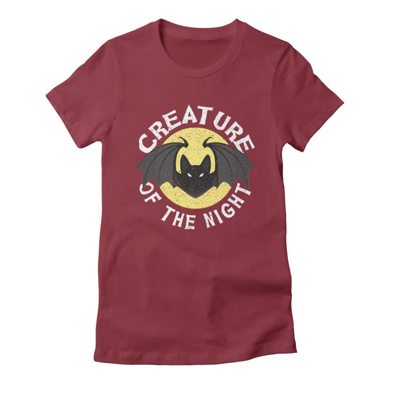 Creature of the night Women's Fitted T-Shirt by Ninth Street Design's Artist Shop