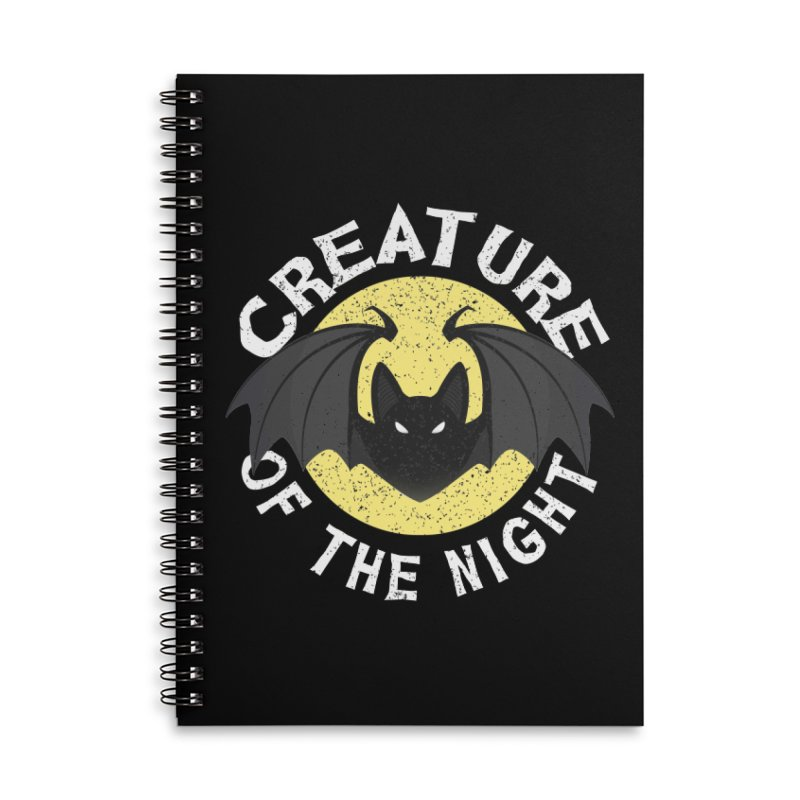 Creature of the night Accessories Lined Spiral Notebook by Ninth Street Design's Artist Shop