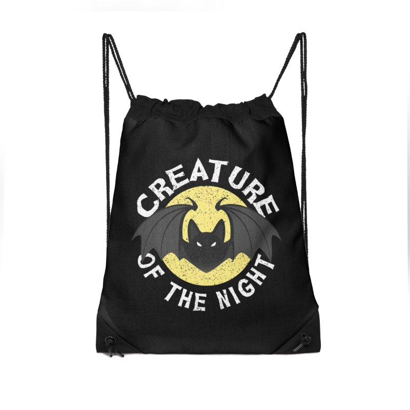 Creature of the night Accessories Drawstring Bag Bag by Ninth Street Design's Artist Shop