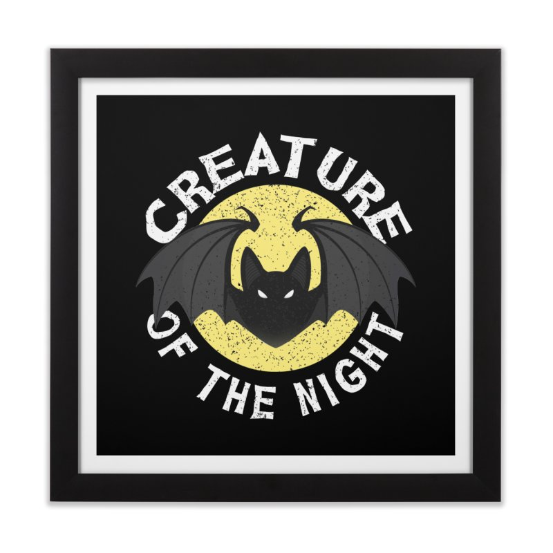 Creature of the night Home Framed Fine Art Print by Ninth Street Design's Artist Shop
