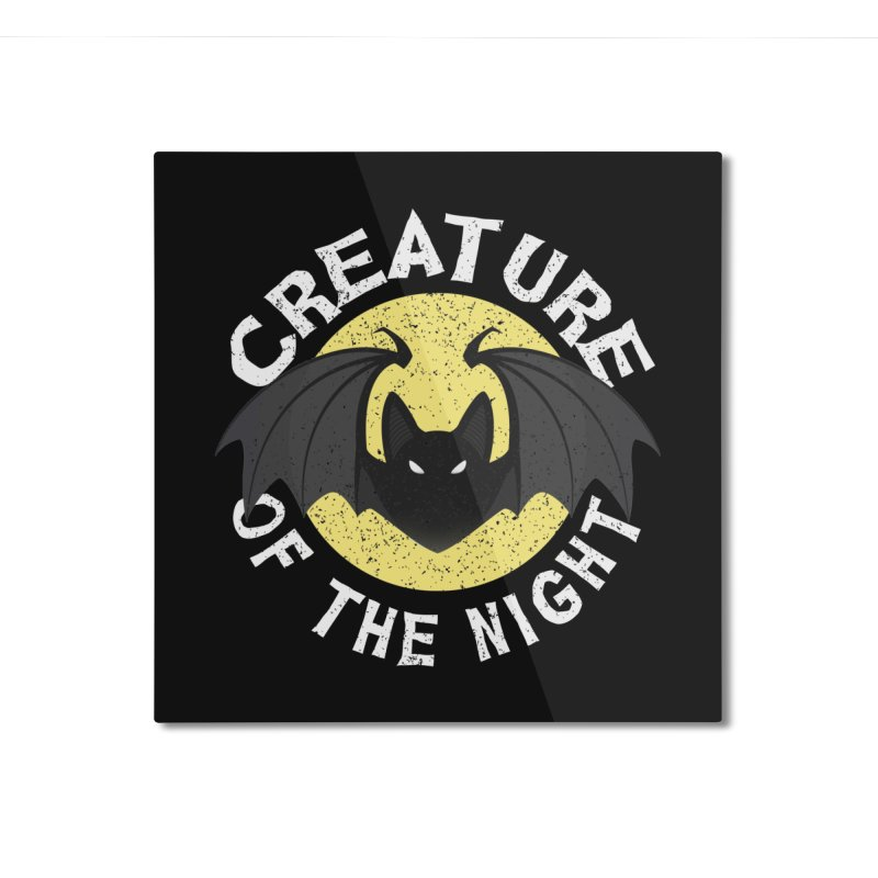 Creature of the night Home Mounted Aluminum Print by Ninth Street Design's Artist Shop