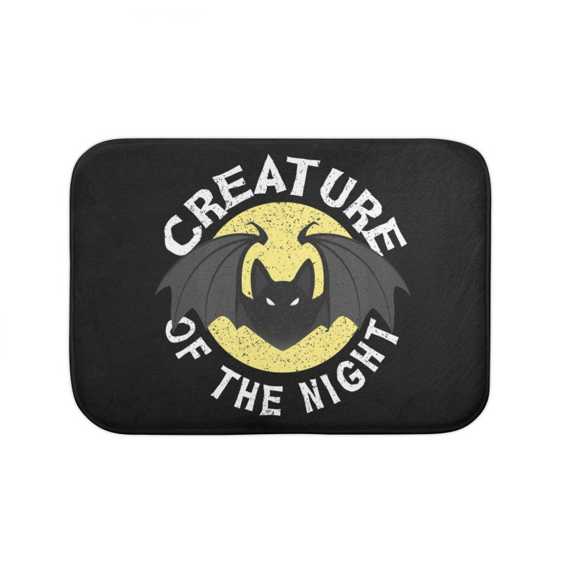 Creature of the night Home Bath Mat by Ninth Street Design's Artist Shop