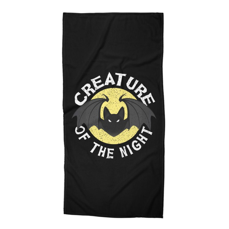 Creature of the night Accessories Beach Towel by Ninth Street Design's Artist Shop