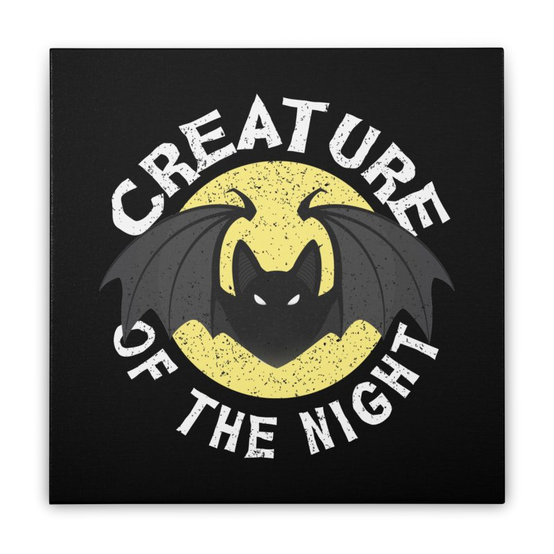 Creature of the night Home Stretched Canvas by Ninth Street Design's Artist Shop