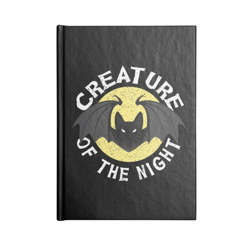 Creature of the night Accessories Lined Journal Notebook by Ninth Street Design's Artist Shop