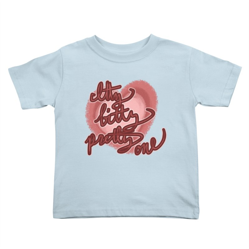 Itty Bitty Pretty One Kids Toddler T-Shirt by nireleetsac's Artist Shop